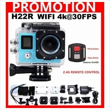 H22R Wifi Sports Action Camera 4K 1080P 2LCD 170D Lens go