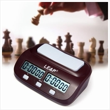 NEW LEAP PQ9907S DIGITAL CHESS CLOCK I-GO COUNT UP DOWN TIMER (WINE RE
