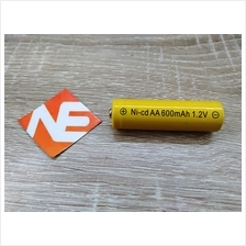 1 UNIT AA NiCd 600mAh 1.2V Rechargeable Battery