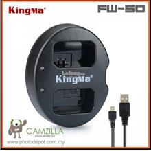 Kingma Dual USB Battery Charger for Sony NP-FW50 - A5000 A5100 A6000