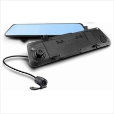 iFOUND Full HD108 Anti Glare Rear View Mirror with Front & Rear Camera
