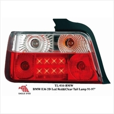 BMW E36 92-97 EAGLE EYES CLEAR RED LED Tail Lamp [TL-016-BMW]