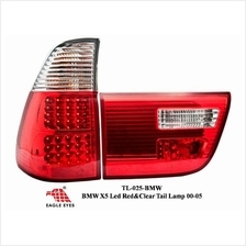 BMW X5 2000 - 2006 EAGLE EYES Red Clear LED Tail Lamp [TL-025-BMW]