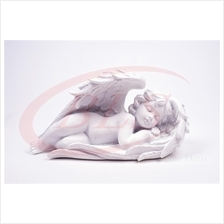 POLYRESIN WHITE COLOR SLEEPING ANGEL H 7 CM WITH WINGS