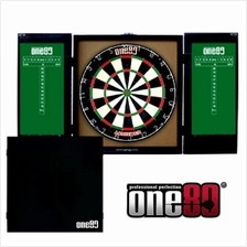 ONE80 DARTBOARD CABINET WITH ACHIEVER BOARD - FULL SET UP - PRO ACHIEV