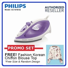 Philips GC1418 Feather Light Steam Iron 1000 Watts Non-Stick Soleplate
