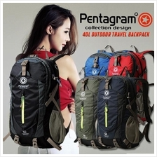 Pentagram 40L Outdoor Travel Casual Hiking Camping Bag Backpack