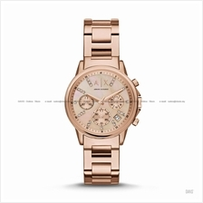 A|X ARMANI EXCHANGE AX4326 Lady Banks Chrono Glitz Bracelet Rose Gold