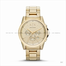 A|X ARMANI EXCHANGE AX2099 Men's Outer Banks Chronograph Bracelet Gold