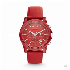 A|X ARMANI EXCHANGE AX1328 Unisex Chronograph Silicone Strap Red