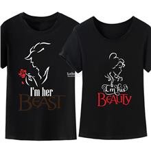 BEAUTY AND THE BEAST CASUAL COUPLE GRAPHIC T-SHIRT 05)