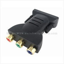 New DVI-I Male to Component Video RGB YPbPr Female Adapter Converter
