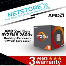 AMD 2nd Generation Ryzen 5 2600x Processor with Wraith Spire Cooler