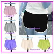 Women 95% Cotton Sport Yoga Gym Shorts Casual Slim Outdoor Short Pants)