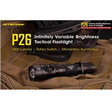 Nitecore P26 Utilizes Cree XP-L HI V3 LED Flashlight - 1000 Lumens
