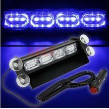 12 LED Laser Emergency Warning Car Flashing Strobe Light (BLEU BLUE)