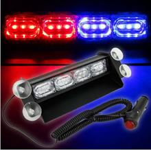12 LED Laser Emergency Warning Car Flashing Strobe Light (RED BLUE)