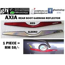 AXIA (all model) SPORTY REAR BOOT GARNISH REFLECTOR