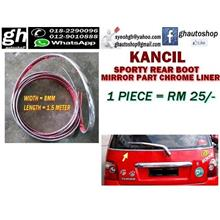 KANCIL (all model) SPORTY REAR MIRROR PART CHROME LINER