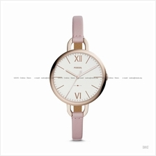 FOSSIL ES4356 Women's Annette 3-hand Slim Leather Strap Pastel Pink