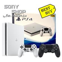 SONY PLAYSTATION PS4 SLIM 1TB GLACIER WHITE CONSOLE + 1 EXTRA CONTROLL)
