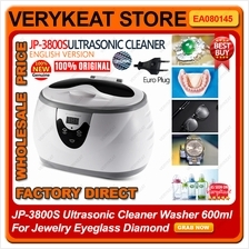 JP-3800S Ultrasonic Cleaner Washer 600ml For Jewelry Eyeglass Diamond