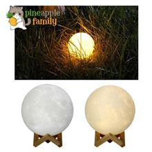 3D Printing Moon Lamp Lunar USB Charging Touch Control Night Light Nur