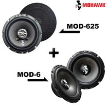 "MOHAWK MOD-625 6.5"" 2-Way Coaxial + MOD-6 6.5"" Mid Bass Speaker Set"