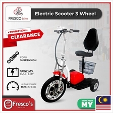 Electric Scooter 3 Wheel BIKE 500W 48V With Suspension With Big Seat