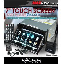 DLAA PRO DA-686 7 Full HD Motorized Double Din DVD USB SD TV Player