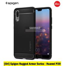 [Ori] Spigen Rugged Armor Series for Huawei P20 (Black)