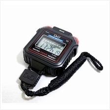 Q&Q Digital Stopwatch 1/100 Sec HS43 made in CITIZEN