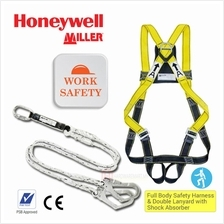 Honeywell Full Body Safety Harness  & Double Lanyard with Shock Absorb