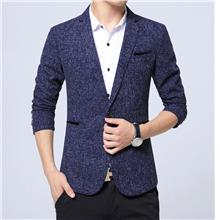 Men Business Blazer Casual Cotton Slim Korea Style Suit Blazer