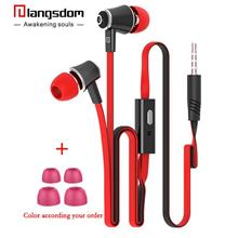 JM21 Langsdom Earphone With Mic Stereo Bass Headset Wire Control Music