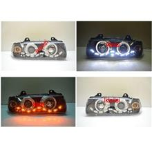 BMW E36 2D/4D '91-97 Head Lamp Projector LED Ring + DRL R8