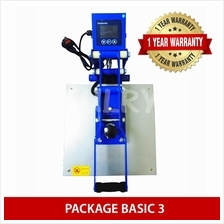 (PACKAGE BASIC 3) Heat Press Machine + Silhouette Cameo V3 Plotter + E