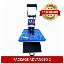 ( PACKAGE ADVANCED 2 ) Heat Press 40x50cm Auto Open with Drawer + Silh