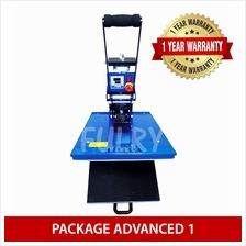 ( PACKAGE ADVANCED 1 ) Heat Press 40x50cm Auto Open with Drawer + Silh