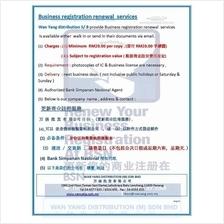Business registration renewal  services