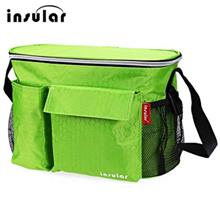 INSULAR PORTABLE WATERPROOF BABIES DIAPER BAG WITH MESH BAG (GREEN)