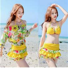 Korea Fashion Padded Underwired Push Up Swimsuit Swimwear Set M086