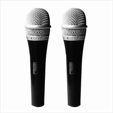 Denn Microphone DM-368TW (10ft Supplied) Dual 3.0m Wired Dynamic Micro
