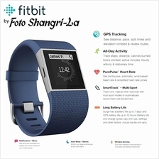 Fitbit Surge Heart Rate Fitness Tracker SuperWatch Small Blue 5.5-6.3