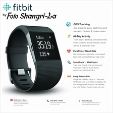 Fitbit Surge Heart Rate Fitness Tracker SuperWatch Small Black 5.5-6.3