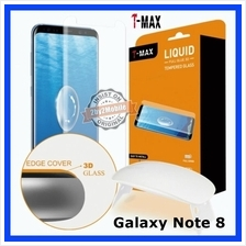 T-MAX Full Glue Adhesive UV Samsung Galaxy Note 8 Note8 Tempered Glass