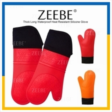 ZEEBE 1 Pc Kitchen Silicone Thick Glove Heat Resistant Cotton Layer
