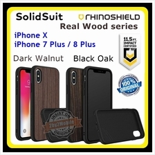Rhinoshield Real Wood SolidSuit iPhone X iPhone 7 Plus 8 Plus case