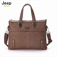 Jeep Buluo Leather Bag Men Handbag Business Briefcase Notebook Bag