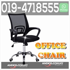 Ergonomic office chair Swivel Kerusi Ofis Fabric Comfort Meja Duduk